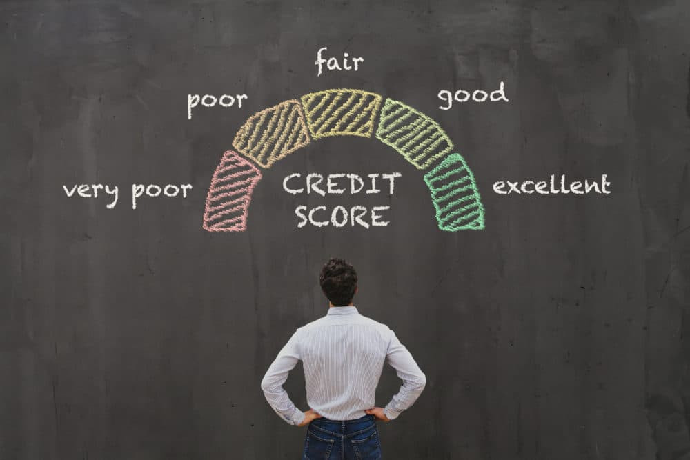 A man and his credit score.