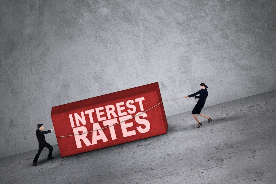 An interest rates graphic.